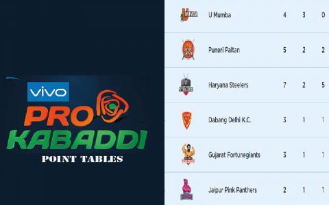 Pro Kabaddi Points Table 2021