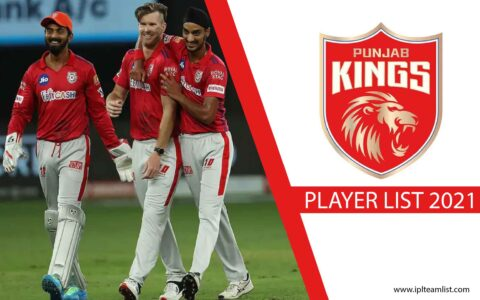 Punjab King 2021 player list