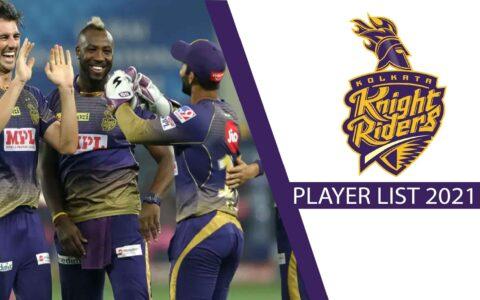 Kolkata Knight Riders 2021 Team list