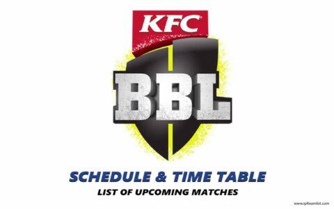 Big Bash 2021 schedule